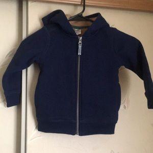 Kids hooded sweatshirt with fleece inside